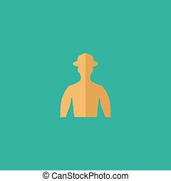 cowboy vector illustration - Cowboy Colorful vector icon...