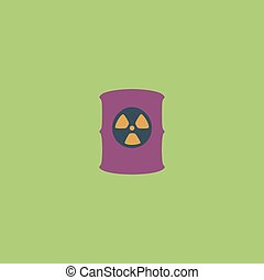Container with radioactive waste vector icon - Container...