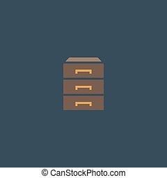 chest of drawers icon - Chest of drawers Colorful vector...