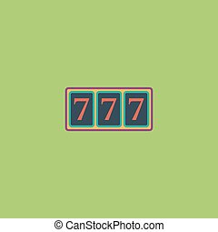 Simple icon 777. - Fortune 777. Colorful vector icon. Simple...