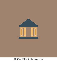 court building vector icon - Court building Colorful vector...