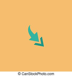 Arrow flat icon - Arrow one by one Colorful vector icon...