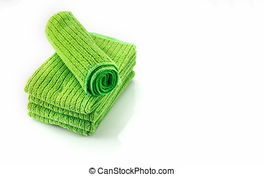 The Napery green color on white background. - The Napery...