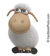 3d ridiculous sheep - The herbivorous and fluffy miracle is...