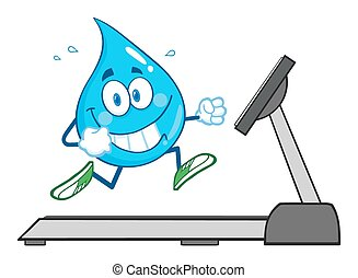 Healthy Water Drop Character