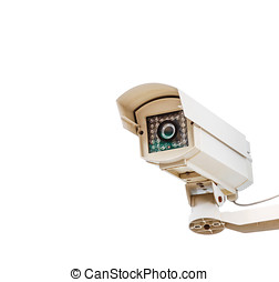 The CCTV on white isolate background for design security...