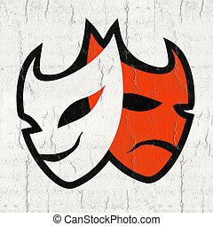 Theatre mask symbol - Creative design of Theatre mask symbol