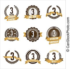 Anniversary Gold Badges 3rd Year