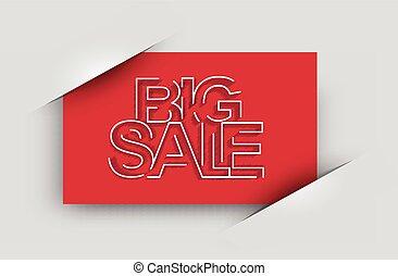 Big Sale Text Design Card