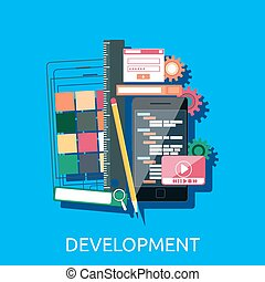 Web Development Concept - Web development concept Web design...