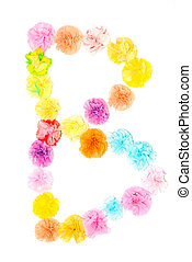 """B"" Alphabet flowers made from paper craftwork - Colorful..."
