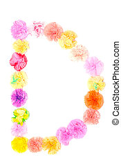 """""""D"""" Alphabet flowers made from paper craftwork - Colorful..."""