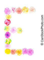 """""""E"""" Alphabet flowers made from paper craftwork - Colorful..."""