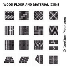Wood floor icons - Wood floor and material icon sets design