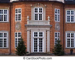 Details of a big beautiful mansion house estate Denmark -...