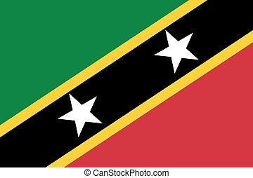 Standard Proportions for Saint Kitts and Nevis Flag -...