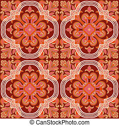 Seamless retro patterns red - Scalable vectorial image...