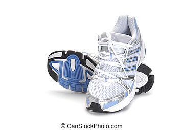 Running Shoes - Image of a sport shoes studio isolated on...