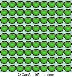 Green apple pattern.