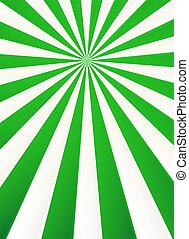 Green and white rays abstract circus poster background
