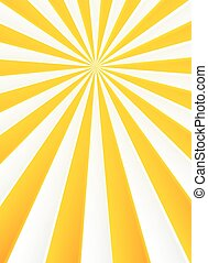 Yellow and white rays abstract circus poster background
