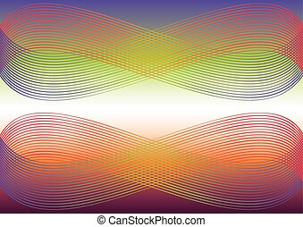 Waves colorful background - Multicolored abstract vector...