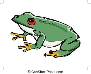 tree frog, illustration of wildlife, zoo, wildlife, animal...