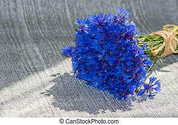 cornflowers - bouquet of blue cornflowers