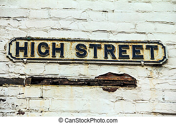 Sign of High Street in Windsor UK - Street sign of High...