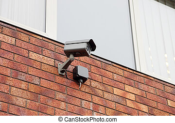 video security system - video camera, security system on the...