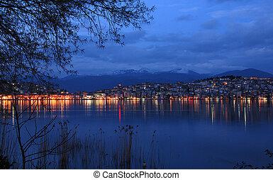 Cityscape of Kastoria