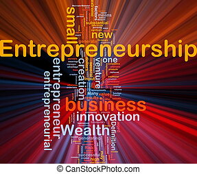 Business entrepreneurship background concept glowing -...