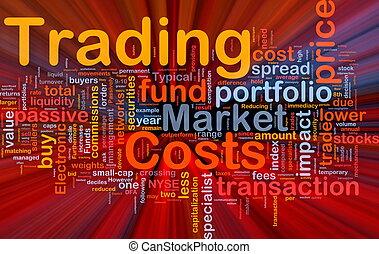 comercio, costes, Plano de fondo, concepto, encendido