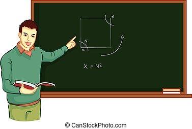 teacher teach student vector - man was teacher teach match...