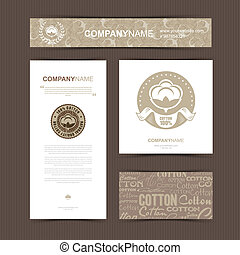 Template of identity for Textile Company.