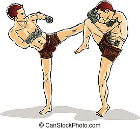 kick boxing,Thai traditional - Thai fight kick boxing,Thai...