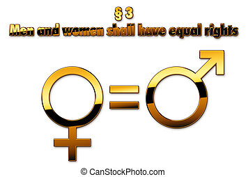 equal status - The equal status of men and women