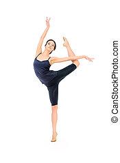 ballet dancer - Beautiful graceful ballet dancer in black...