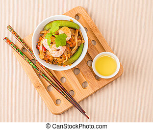 Overhead Shrimp Pad Thai