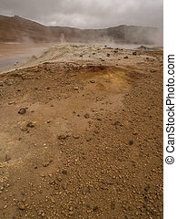 Namaskard Myvatn Iceland - Geothermal activity at Namaskard,...