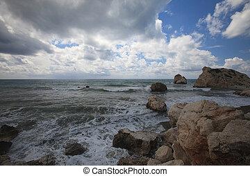 vista, Chipre, el, Lugar de nacimiento, de, Aphrodite., ,