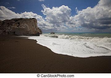 el, Lugar de nacimiento, de, Afrodita, en, Chipre,