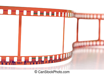 Film Strip - Close-up image of 35mm film strip isolated on...