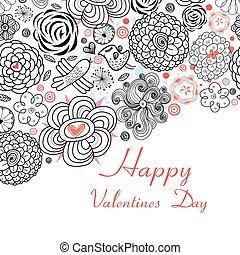 Floral Design Cards for Valentine s day holiday - Floral...