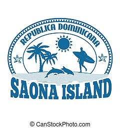 Saona Island stamp or label - Saona Island, Dominican...