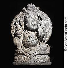 ganesh, hindú, dios, aislado