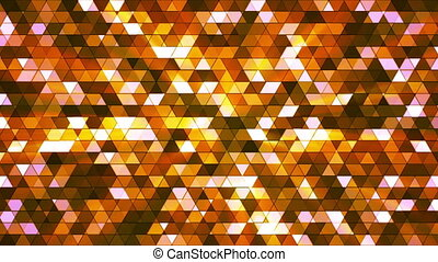 Broadcast Twinkling Squared Hi-Tech Triangles, Orange, Abstract, Loopable, HD