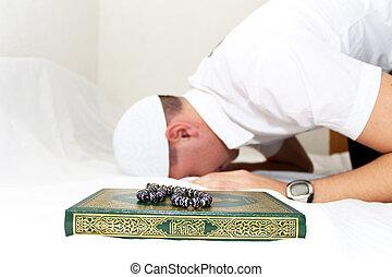 Muslim Man Is Praying