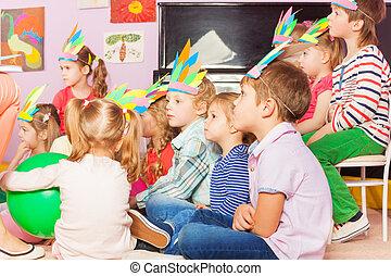 Many kids sit in developmental kindergarten class - Many...