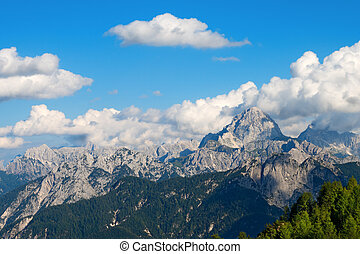 Julian Alps - Mount Mangart Friuli Italy - Julian Alps with...